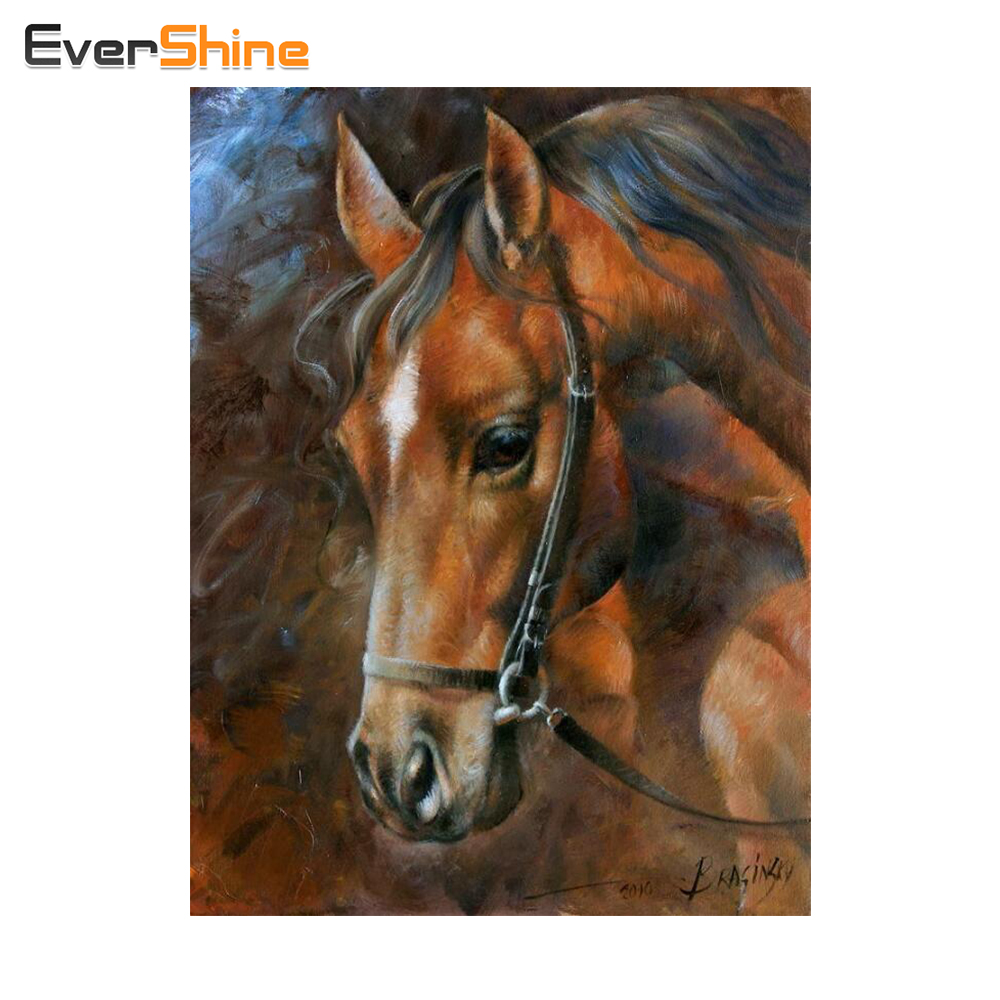 DIY Diamond Embroidery Horse Full Square Rhinestones Icon 5D Diamond Mosaic Painting Cross Stitch Sets Home Decor Craft and Art
