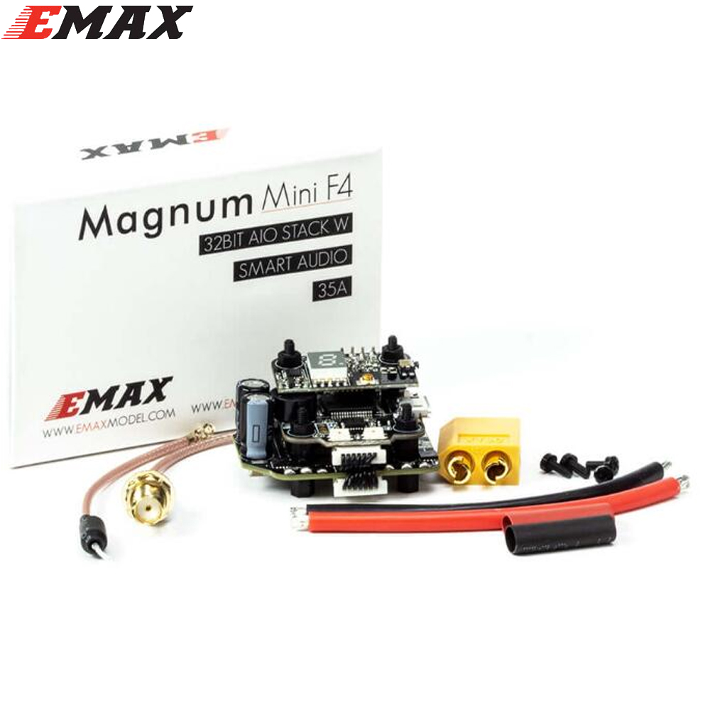 Emax Mini MAGNUM F4 Flight Controller+MPU6000 6S BLHELI 32BIT 35amp Capable ESC+Current Sensor All-in-One Stack emax f4 magnum all in one fpv stack tower system f4 osd 4 in 1 blheli s 30a esc vtx frsky xm rx for rc models multicopter