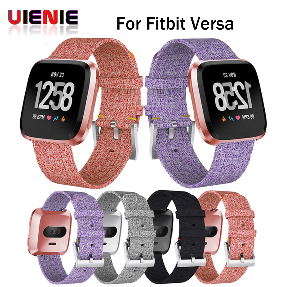 New Arrival For Fitbit Versa Wristband Wrist Strap Smart Watch Band Strap Soft Denim Watchband Replacement Smartwatch Band fitbit watch