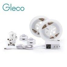Motion Activated Sensor Bed Light 1.2M LED Strip Sensor Night Light 12V Cabinet Light Warm white with Automatic Shut Off Timer