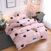 Christmas gifts Bedding Set luxury 3 4pcs Family Set (Duvet Cover + Bed Flat Sheet + Pillow Case) Twin Full Queen King Size cheap None Duvet Cover Sets quality 100 Polyester Printed Simple home Reactive Printing PLANT 1 0m (3 3 feet) 1 2m (4 feet) 1 35m (4 5 feet)