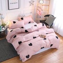 Regalos de navidad juego de cama de lujo 3/4 Uds. Conjunto familiar (funda nórdica + sábana plana + funda de almohada) doble tamaño Queen King