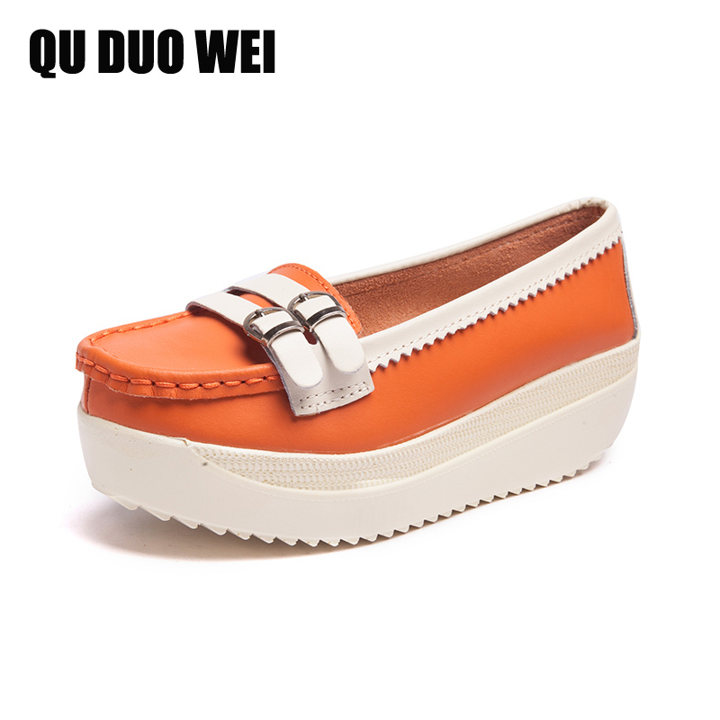 2018 New Women Flat Platform Shoes Woman Loafers Zapatos Mujer Genuine Leather Shoes For Ladies Shoes Casual Flats Moccasins 34 43 big small size new 2016 summer fashion casual shoes moccasins bottom shoe platform flat for women s loafers ladies