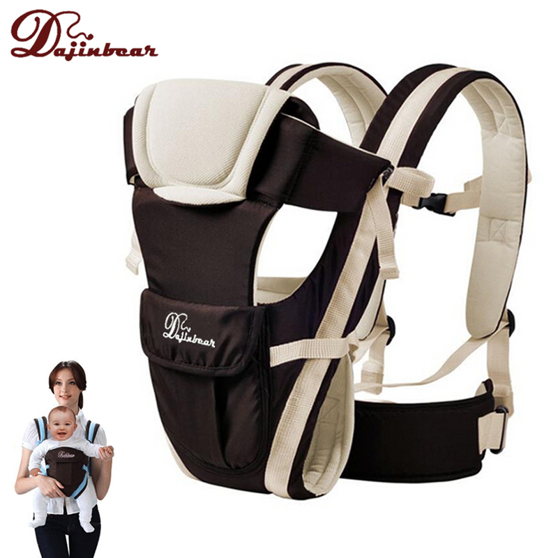 Dajinbear Baby Backpack Carrier Ergonomic Baby Sling Breathable 4 Positions Front Facing Kangaroo Horizontal Infant Wrap