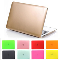 notebook tranparent/frosted matte gold protector for mac laptop case protective shell for Macbook air 11 13 pro 12 13 15 retina
