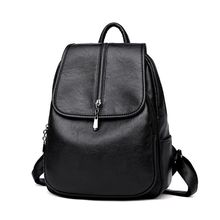 High Quality Women's Backpack PU Leather Shoulder Bag Schoolbag Tote Rucksack 25 x 12 x 33cm 2019 New цена и фото