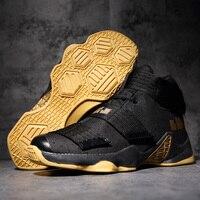 Breathable Lebron Basketball Men Shoes Couple High top Jordan Basketball Boots Men Air Cushion Sneakers Man Outdoor Shoes Male