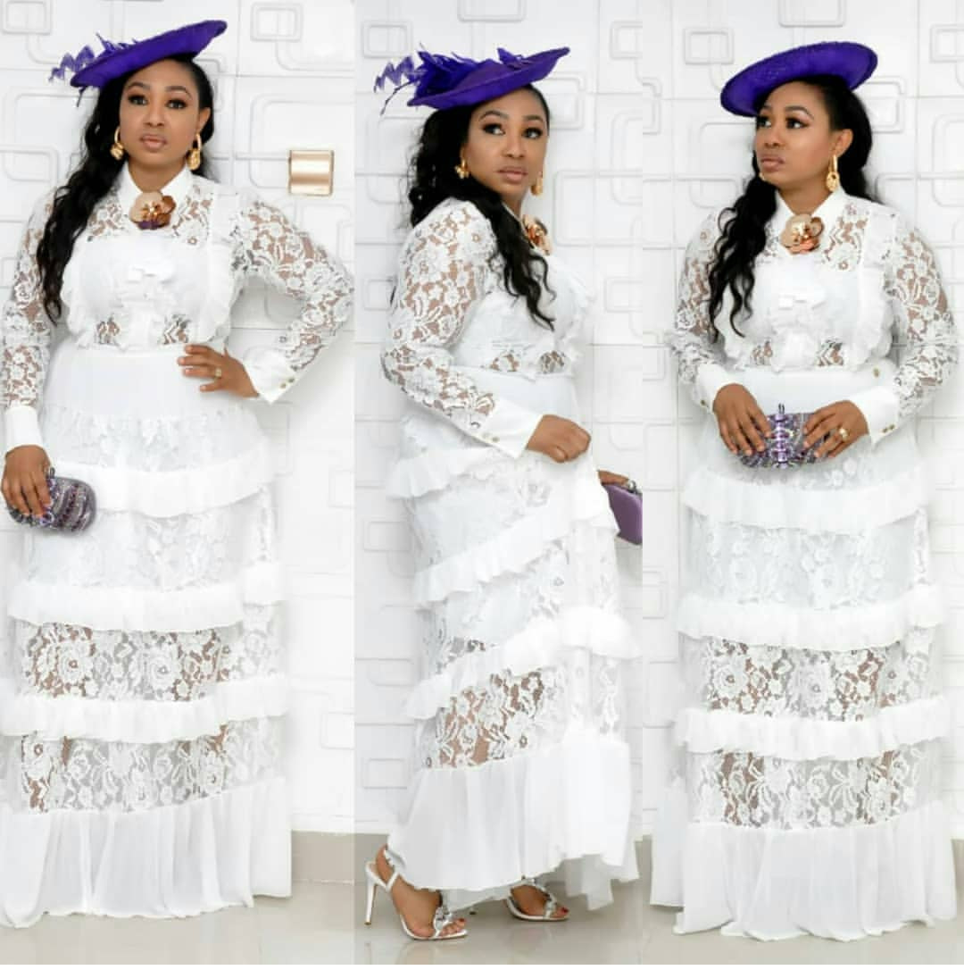 African Dresses for Women Dashiki Classic African Clothes Big Size Fashion Lace Fungus Edge Stitching Long Africa Dress Growns