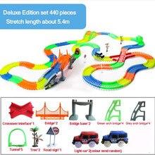 Гоночный трек игрушки в сборе круговой трек экологически чистый пластик собрать строительные блоки для ребенка подарок на Рождество День рождения