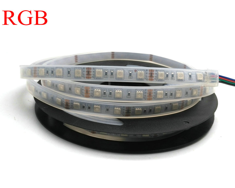 IP67 5050 LED csík DC12V 60 LED / M kiváló minőségű szilikon - LED Világítás - Fénykép 3