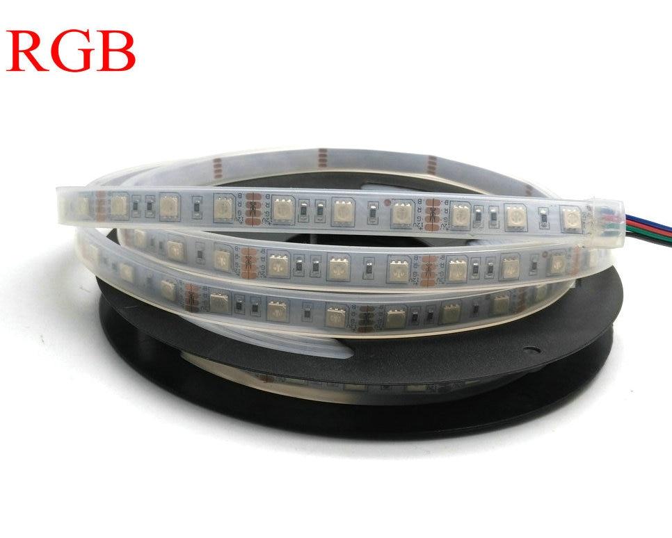 IP67 5050 Tira de LED DC12V 60 LED / M Alta calidad Tubo de silicona - Iluminación LED - foto 3