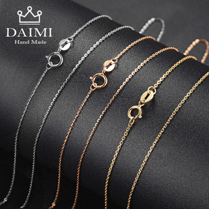 Image 2 - DAIMI collier authentique 18K pour femmes, bijoux avec pendentif 18 pouces, blanc, jaune et or, au750, vente en gros