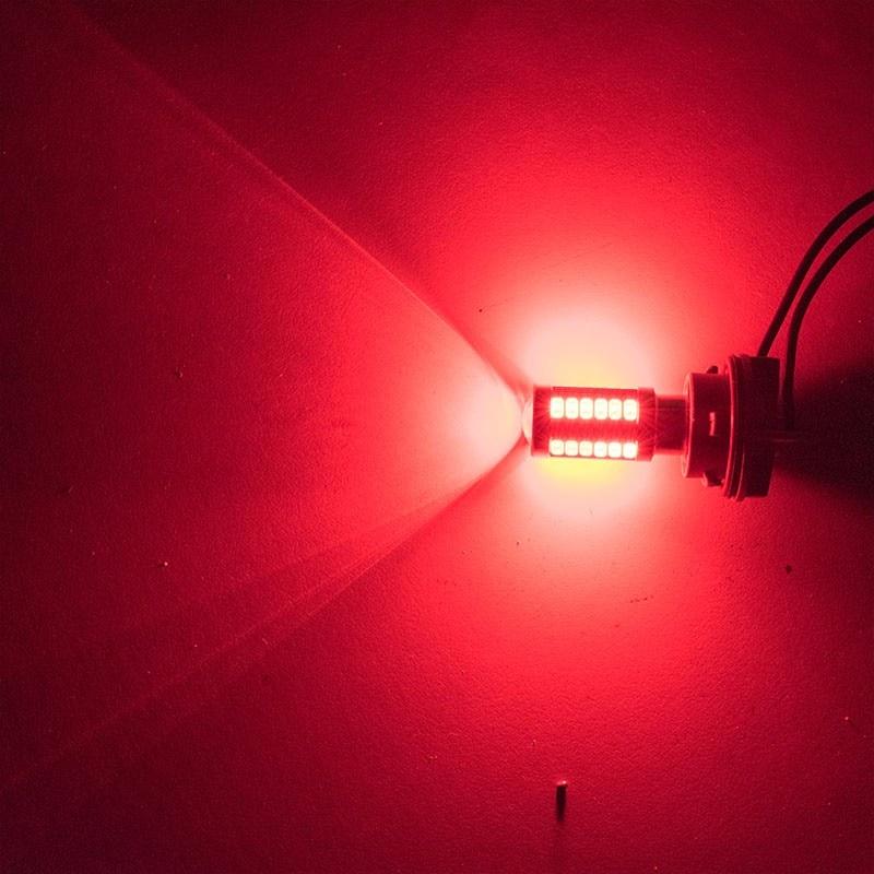 חלקי חילוף bauknecht ASLENT 1157 P21 / 5W BAY15D סופר ברייט 33 SMD 5630 5730 בלם אוטומטי LED אורות בשעות היום מכונית ערפל המנורה פועל להפסיק נורות 12V (3)