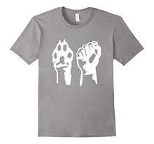 Dog Paw + Human Fist | Animal Rights activism t-shirt