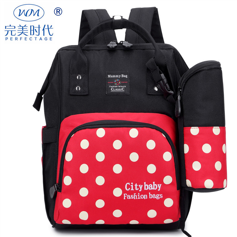 Cute Dot Baby Diaper Bag Backpack Waterproof Large Baby Nappy Bag Backpack Maternity Bags Baby Care Changing Bag for Stroller new arrive baby diaper bag cute baby nappy bag waterproof backpack maternity bags baby care cute changing bag backpack