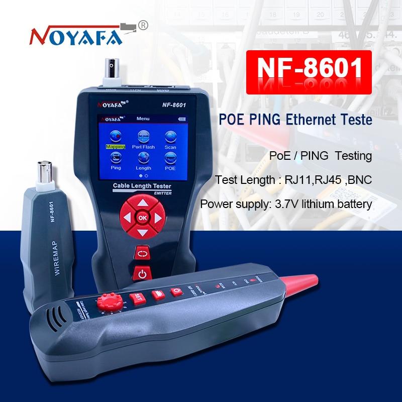 NF-8601 Multi-funzionale Cavo di Rete Tester LCD lunghezza del Cavo Tester Breakpoint Tester Inglese versione NF_8601