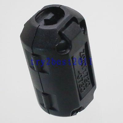 TDK ZCAT 1730-0730 RFI EMI Cable Filter Ferrite Core Clip On 7mm Cable Black 5pcs tdk 9mm clip on rfi emi filter ferrite