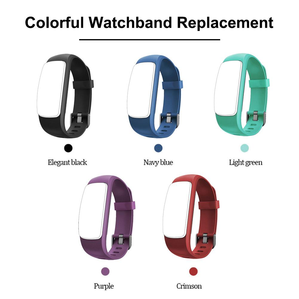 Image 2 - Silicone Smart Bracelet Adjustable Wristband Colorful Watchband Replacement Accessory For Fitness Tracker ID107 Plus HR-in Smart Accessories from Consumer Electronics