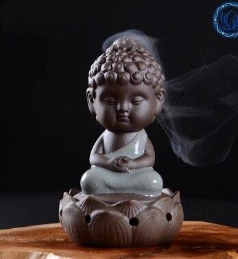 Tea pet lotus Buddha like furnishing articles Wish little monk aroma stove Kung fu tea - Life taste store