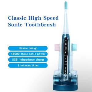 Image 2 - Sonic חשמלי מברשת שיניים 1 סט 8 נוסף brushhead Litpack אוראלי היגיינה STBR N001 נטענת עמיד למים sonic מברשת שיניים