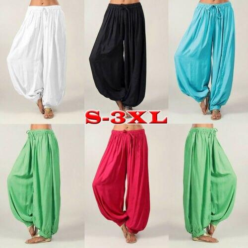 Solid Color Pants  Unisex Haremshose Pluderhose Indian Aladin Baggy Pumphose Hippie Sports Gym Hosen