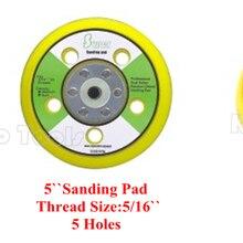 125 мм шлифования бэк-pad 5 дюймов абразивный диск площадку крюк и петля винил 5/16 с отверстиями для воздуха орбитальной jil Sander/полировщик