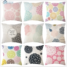 ФОТО ouneed creative  leaf linen cushion cover throw pillow case sofa home decor dropping july7