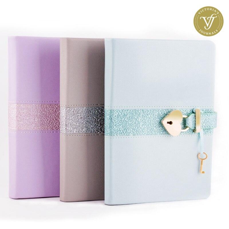 Notebooks & Schreibblöcke My Secret Tagebuch-gestreiften Ausgekleidet/ausgeschlossen Journal Notebook