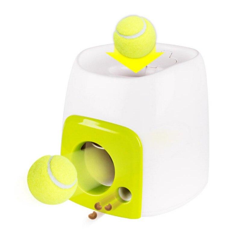 Interactive Récupérer la Balle De Tennis Lanceur Chien Pet Jouets Automatique Alimentaire Machine À Envoyer Pet Lancer De Balle Dispositif D'émission avec BaseBall