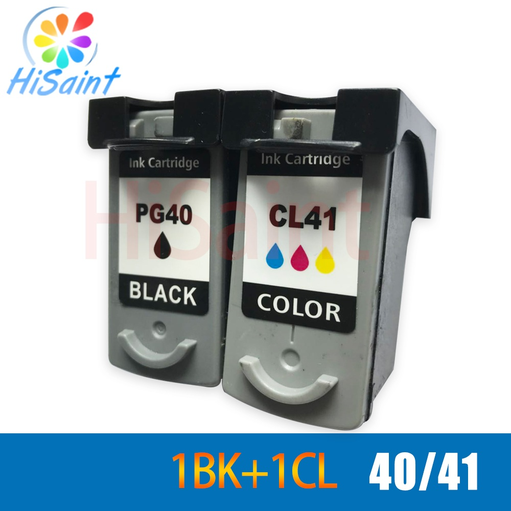 hisaint for Canon pg40 CL41 pg 40 cl 41 Ink Cartridge Compatible For Canon Printer iP1180/iP1200/iP1300/iP1600/iP1700/iP1880 5bk 2cl large capacity ink cartridge compatible pg 540 cl 541 pg540 cl541 for canon mg2150 mg2250 mg3150 mg3200 mg3550 printer