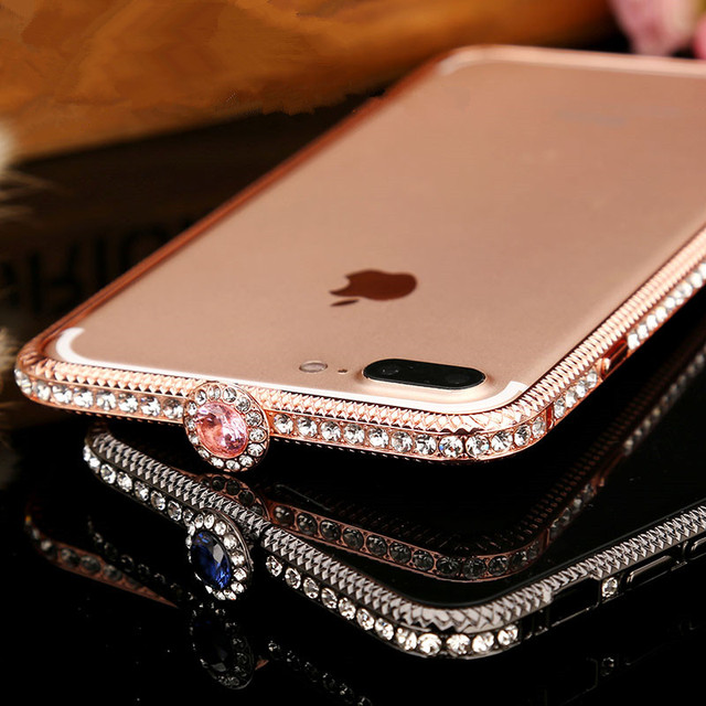hybrid bling for glass product apple unnfiko glitter diamond case sparkling index gold luxury cover packaging beauty soft mirror back shiny plate plus retail iphone inch with