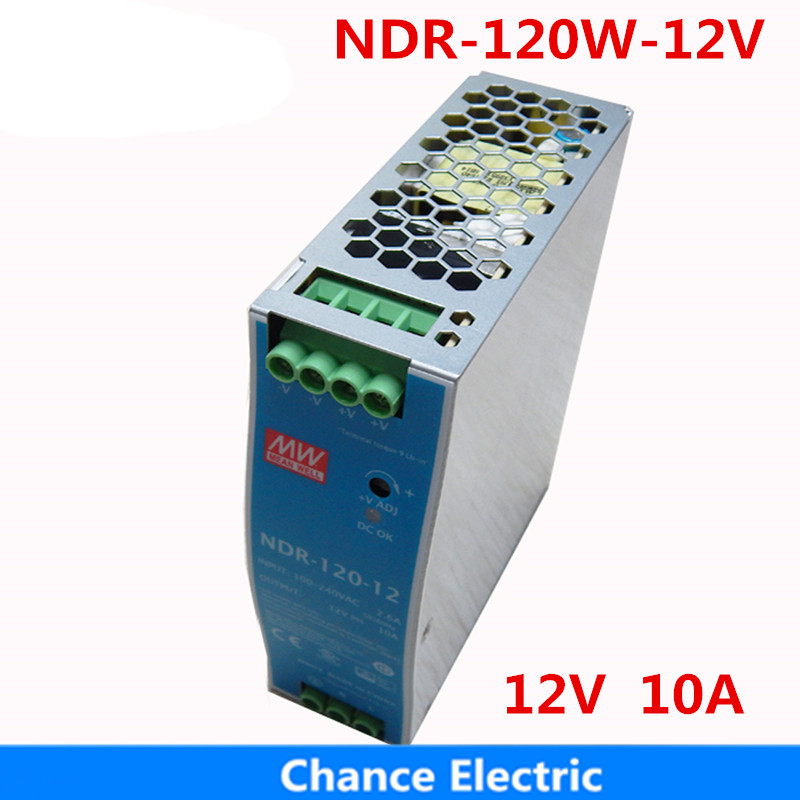 120w 12v 10a Din rail Switching Power Supply NDR-120W-12V Meanwell SMPS LED Power supply s 120w 12 10a 120w 110 220v to 12v switching power supply adapter silver
