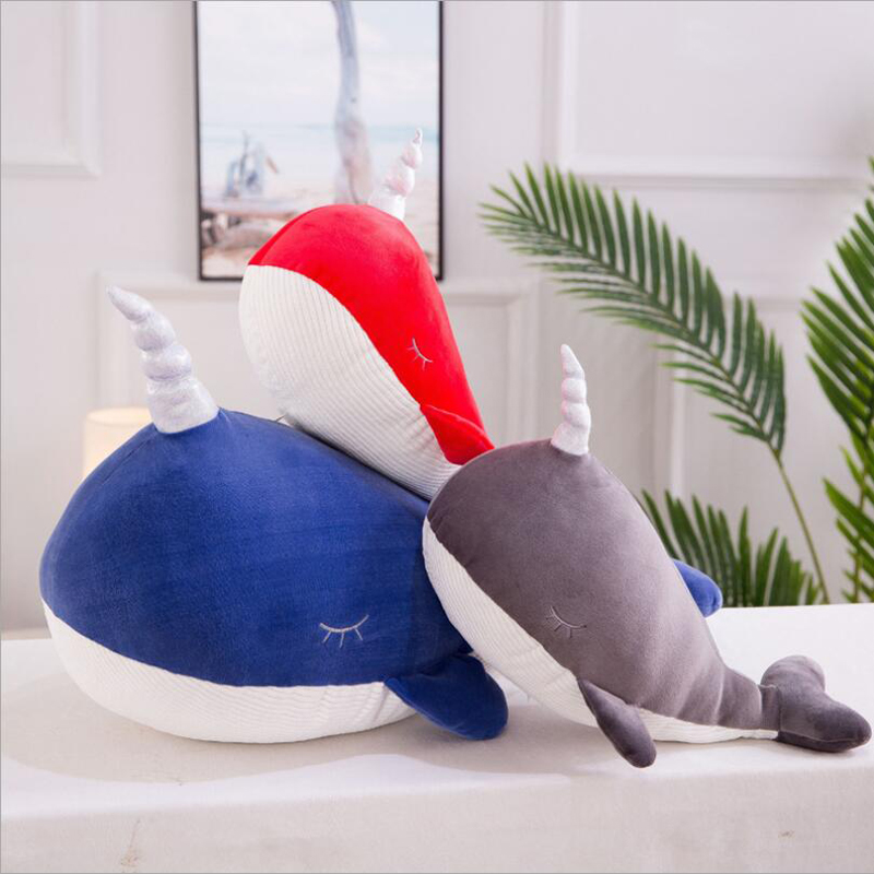 Creative Cute Marine Animal Whale Plush Toys Stuffed Whale Doll Toy Soft Plush Pillow Children Birthday Gifts in Stuffed Plush Animals from Toys Hobbies