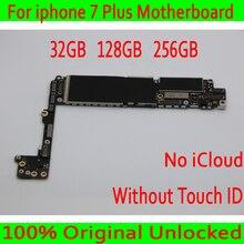 Без iCloud для Apple iPhone 7 Plus материнская плата разблокированная, оригинальный разблокирована для Apple iPhone 7 Plus 7 P плате без Touch ID