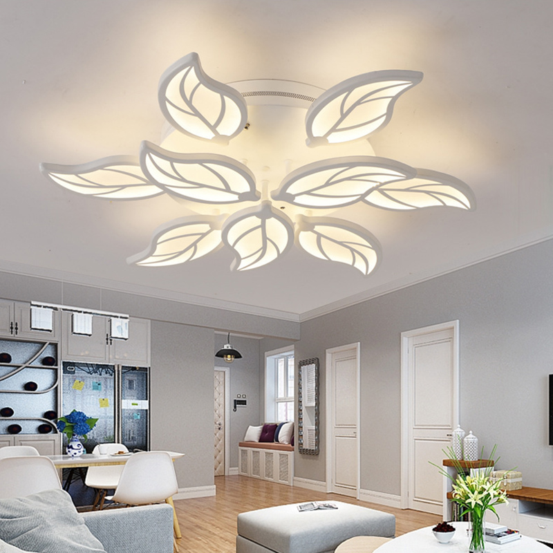 Modern led leaf ceiling lights for acrylic bedroom living room modern led leaf ceiling lights for acrylic bedroom living room flushmount lighting plafondlamp luminarias fixtures moderne lamps in ceiling lights from aloadofball Choice Image