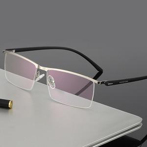 Image 3 - BCLEARR Montura de gafas de titanio para hombre, gafas de negocios ópticas, sin montura, con bisagras de resorte, 5 colores opcionales, oferta