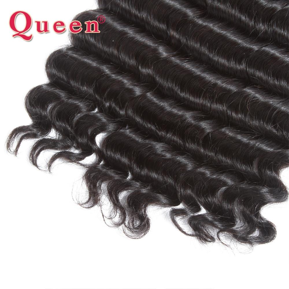 Queen Hair Products Պերուական մազերի ալիքների - Մարդու մազերը (սև) - Լուսանկար 5