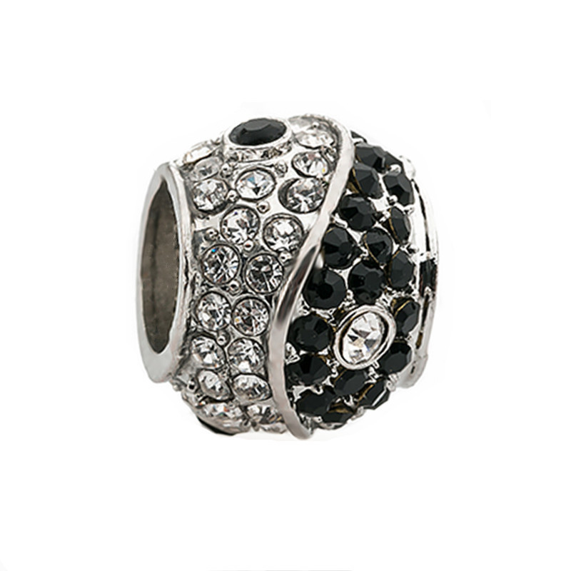 new Unique Zircon Beads Yin&Yang Beads Charms fit Pandora ...