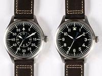 Япония NH35 мужские наручные часы со сменными камнями Bling CZ Пособия по немецкому языку Big Pilot сапфир 300 M B часы Uhr WW2 Flieger