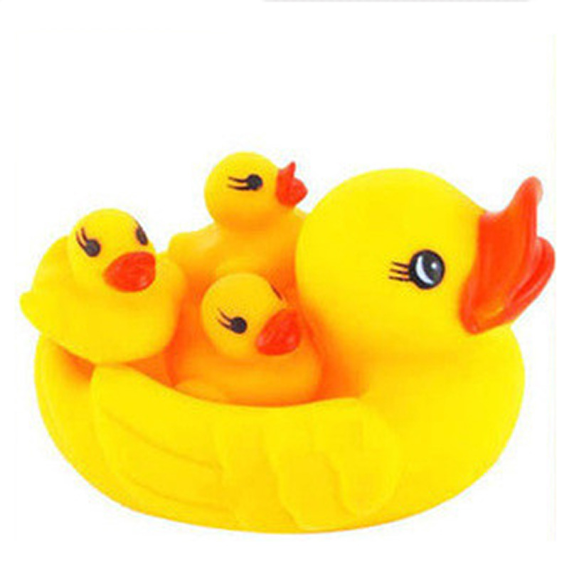 10Pcs 4Pcs Rubber Yellow Duck Baby Shower Water Bath bathroom Toys For Baby Kids Children Education Birthday Favors Gift Toy L10 in Bath Toy from Toys Hobbies