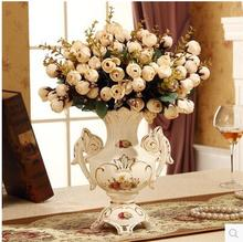 European vase pottery and porcelain antique design of the living room decorates a creative flower to put in modern fashion ori