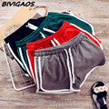 2016 New Summer Cotton Women Casual Shorts Drawstring Fitness Short Elastic Waist Pocket workout Home Short Women Workout Shorts