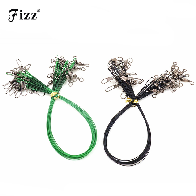 50Pcs/Pack Fishing Tackle Lure Trace Wire 15cm 23cm 30cm Length High Carbon Stainless Steel Anti-bite Sub Fishing Line