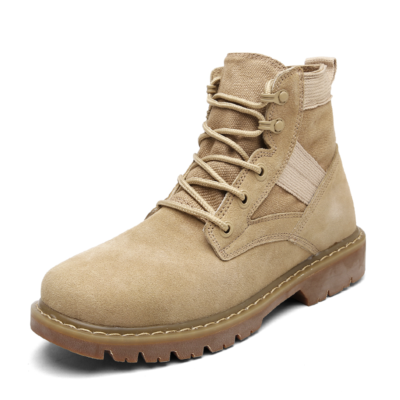 2017 Men Desert Tactical Military Boots Autumn Mens Work Safty Shoes Army Boot Militares ...