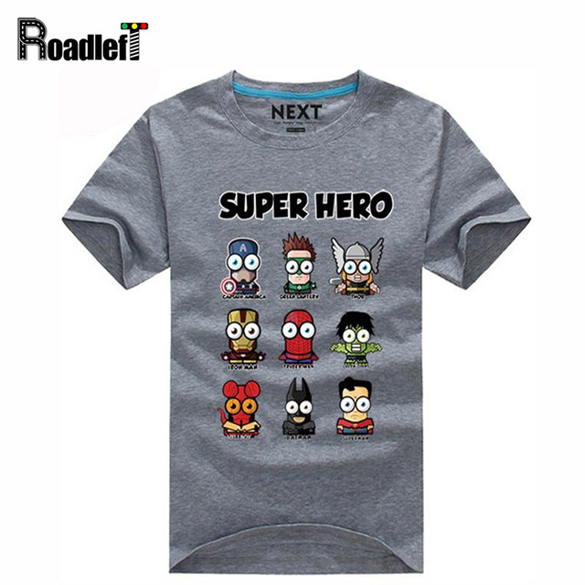 Superman/Captain America Popular Super hero cartoon funny t shirts ...