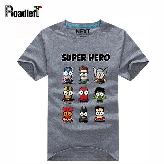 Superman/Captain America Popular Super hero cartoon funny t shirts ...