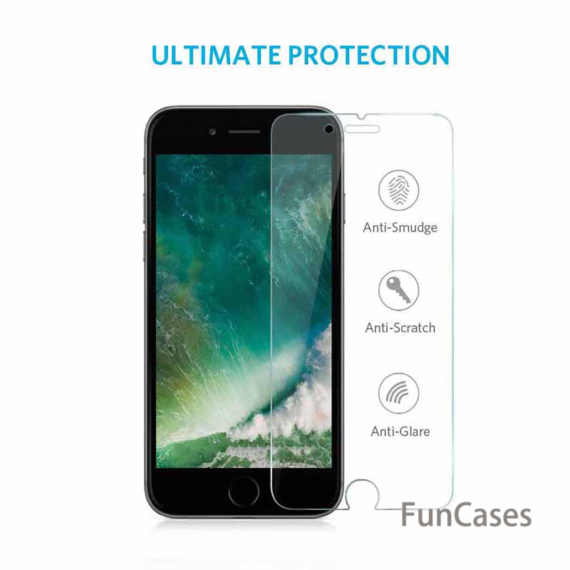 Screen Protector Tempered Glass For iPhone 8 7 6 6S Plus X 5 5S SE 4 4S Toughened Glass For iPhone XS MAX XR Protective Cover image