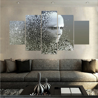 Diamond Robot 5 Pieces Paintings Wall Art Home Decoration Unframed Canvas Oil Painting For Living Room