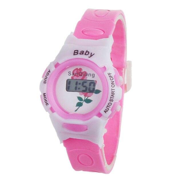 blue shope #3001 Hot Boys Girls Students Time Electronic Digital Wrist Sport Wat