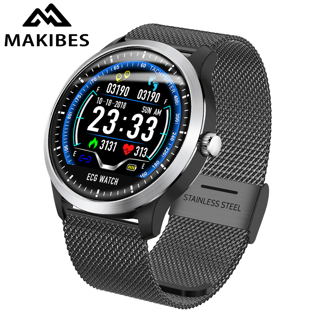Makibes BR4 ECG PPG smart watch Men with electrocardiogram display heart rate blood pressure smart Band Fitness Tracker New spülbecken sieb
